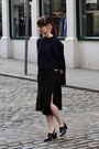 Navy-murua-jumper-black-mango-skirt-black-topshop-heels