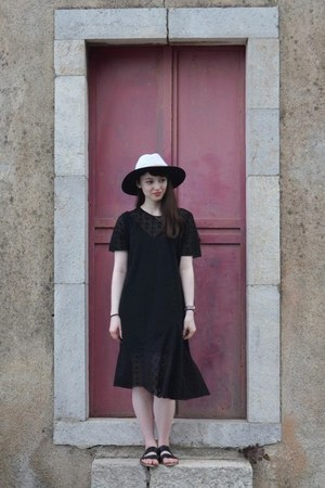 black & other stories dress - white Zara hat - black next sandals
