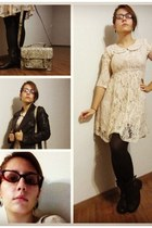 lace Forever 21 dress - python Urban Outfitters bag - kitten Claires glasses