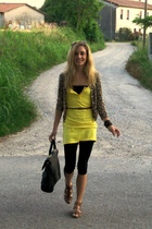 H&M sweater - H&M dress - Zara leggings - H&M shoes - H&M purse - H&M belt