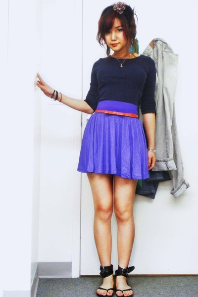 Topshop top - H&M skirt - unbranded belt - Adelene shoes - From Oman necklace -