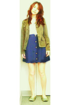 Reitmans blazer - unbranded skirt - forever 21 top - Everlast shoes