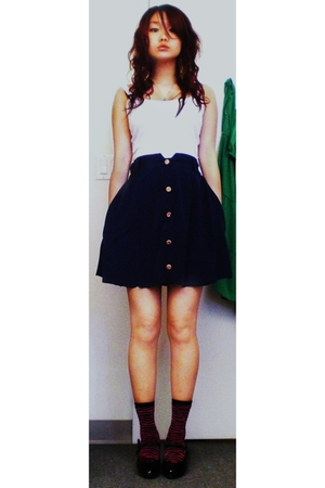 skirt - Topshop top - Ardene socks - roberto vianni shoes