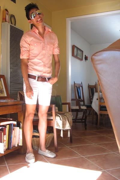 Men's Express Shirts, Brown Target Belts, White Shorts, Beige ...