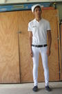 White-local-navy-exchange-hat-white-gap-shirt-black-coach-belt-white-forev