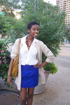 brown Urban Outfitters accessories - blue Forever 21 skirt - white Converse blou