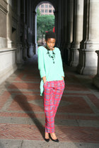 Betsey Johnson pants - Zara sweater - Zara heels