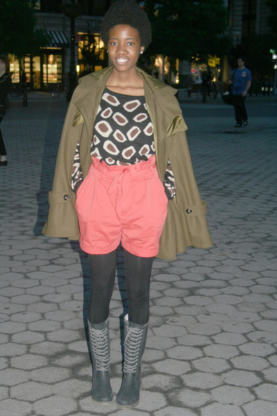 asos cape - Urban Outfitters boots - H&M sweater