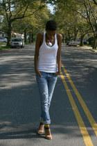 Gap jeans - Forever 21 top - Zara heels