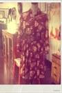 Maroon-sunshine-alley-dress-heather-gray-vintage-purse-brown-vintage-belt