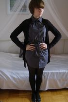 black Terranova blazer - gray Vila blouse - black seppl tights - black Valenssia