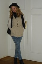 New Yorker shoes - H&M hat - Erfurt scarf - GINA TRICOT pants - Forever 21 vest
