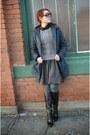 Black-nine-west-boots-navy-columbia-sportswear-coat