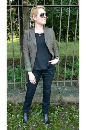 black chelsea Gap boots - black Mango jeans