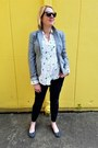 Heather-gray-jcrew-blazer-white-novelty-print-anthropologie-blouse