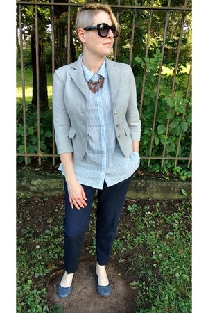 heather gray cropped Forever 21 blazer