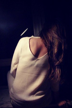 white vintage sweater