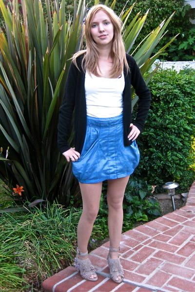 Zara skirt - Zara shirt - sweater - forever 21 accessories - Zara shoes