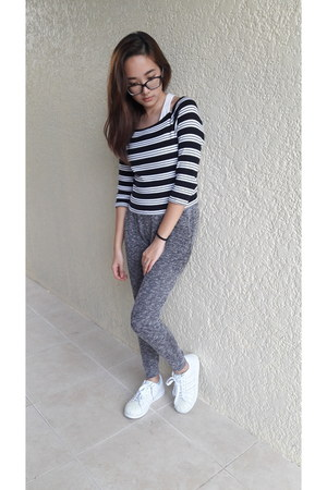 Forever 21 top - Forever 21 pants - Adidas sneakers