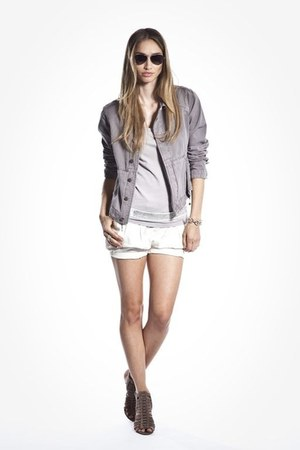 periwinkle Beryll jacket - off white made in la Beryll shorts
