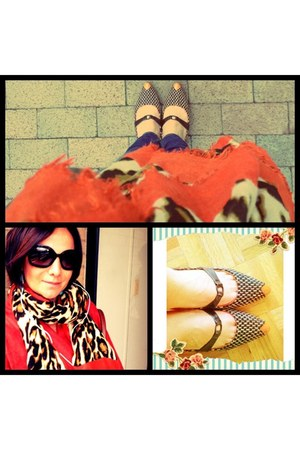 Isabel Toledo shoes - orange coat angle coat - Zara jeans