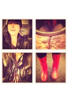 red rain boots Marc by Marc Jacobs boots - light purple kidnapped alley dress