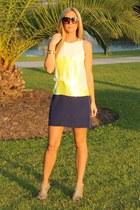 color block Tibi dress - oversized house of harlow sunglasses