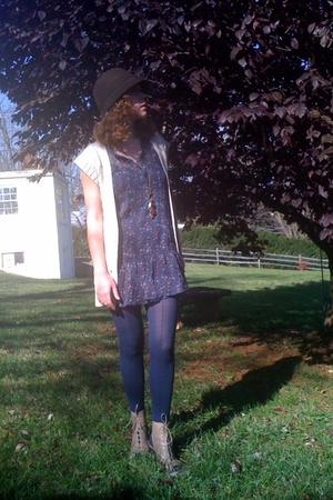 Forever21 sweater - Forever21 dress - Forever21 boots - Forever21 hat - payless