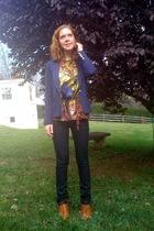 Forever21 blazer - Forever21 shirt - Mango jeans - Forever21 shoes