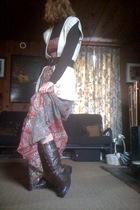 Forever21 sweater - Forever21 belt - Forever21 dress - Target top - GoJane boots