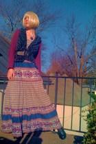 purple Old Navy shirt - gray Forever21 vest - purple Forever21 dress - black For
