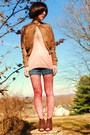 Brown-forever21-jacket-pink-forever21-top-blue-forever21-blouse-blue-billa
