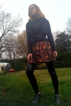 Forever21 vest - Forever21 sweater - Forever21 skirt - GoJane boots