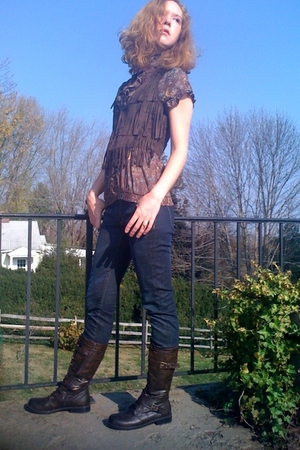 H&M jeans - GoJane boots - Forever21 shirt