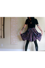 Black-american-apparel-top-purple-hellz-bellz-skirt-black-american-apparel-t