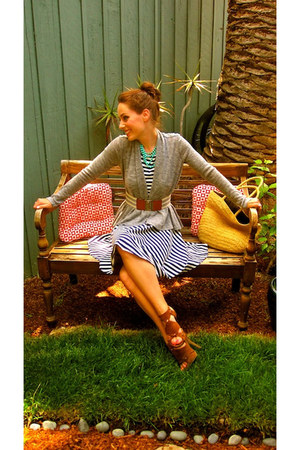 Urban Outfitters dress - Old Navy bag - Bakers heels - Forever 21 cardigan - For