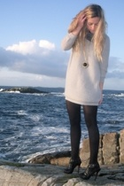 shoes - - sweater - scarf - necklace