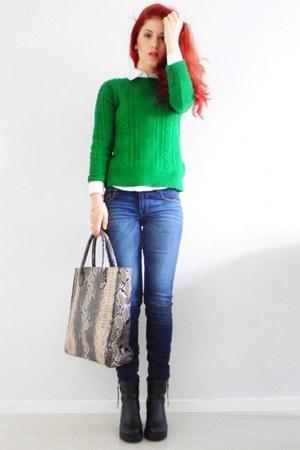 snakeskin lindex bag