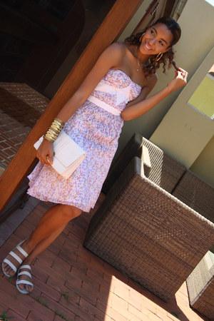 white Primark bag - light pink pastel Abaete dress - eggshell H&M sandals