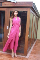 hot pink French Connection dress - neutral Miu Miu pumps