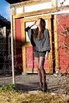 like love coat - H&M top - Forever 21 shorts - DKNY stockings - Forever 21 clogs