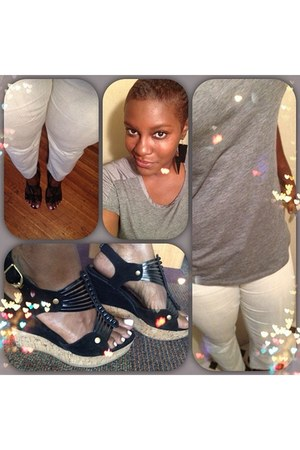 black Ft Lauderdale Swap Shop wedges - light blue Gap jeans