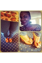 Shoe Dazzle pumps - Forever 21 jeans - leopard print Forever 21 shirt