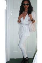 Zara blazer - Mango jeans - Zara belt - Kurt Geiger shoes - Michael Kors accesso