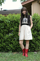 lace-up Urban Outfitters vest - Anthropologies dress