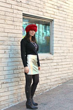maroon faux fur asos hat - black Michael Kors sweater