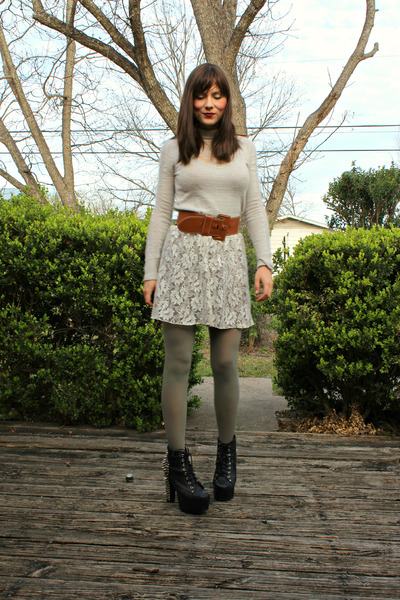silver free people sweater - studded lita Jeffrey Campbell shoes