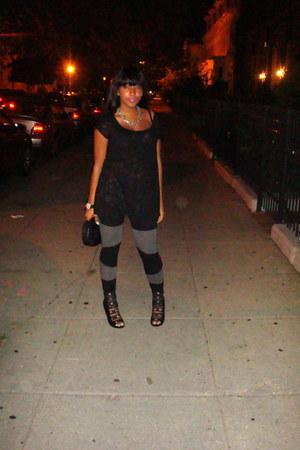 Betsey Johnson watch - H&M leggings - H&M shirt - Juicy Couture purse