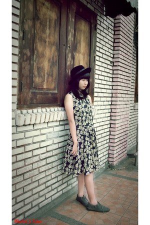 china market boots - heather gray Elim Fashion dress - black Loevenich hat