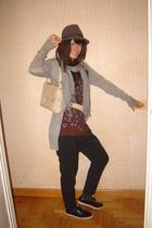 vintage hat - Zara sweater - H&MComme des garcons t-shirt - Zara pants - vICTORI